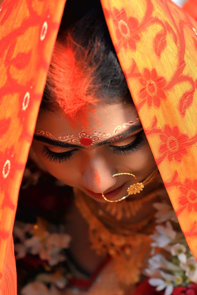 bengali bride sindur daan photo my clicks